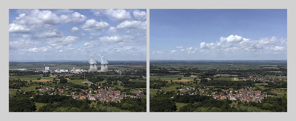 Nuclear power plant  - Bugey - France > diptych 47 x 128 inch > © 2016