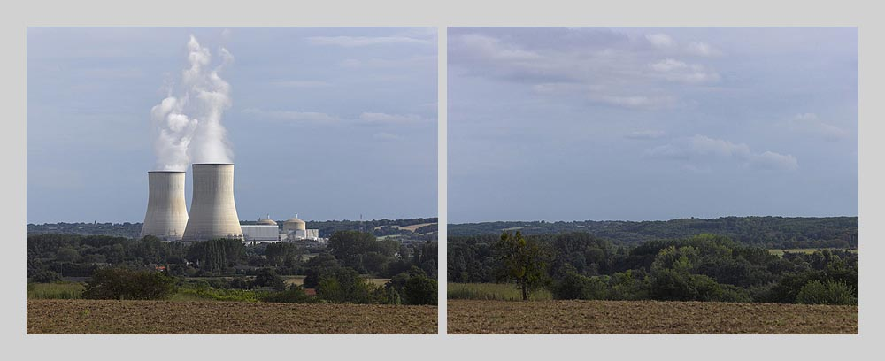Nuclear power plant - Civeaux - north view - France > diptych 47 x 128 inch > © 2016