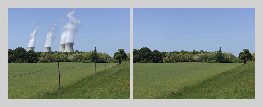 Nuclear power plant - Dampierre - France > diptych 47 x 128 inch > © 2016