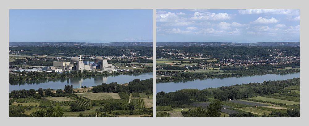 Nuclear power plant - Saint-Alban - France > diptych 47 x 128 inch > © 2016
