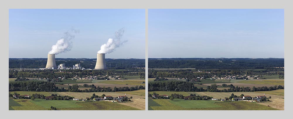 Nuclear power plant - Golfech - France > diptych 47 x 128 inch > © 2016
