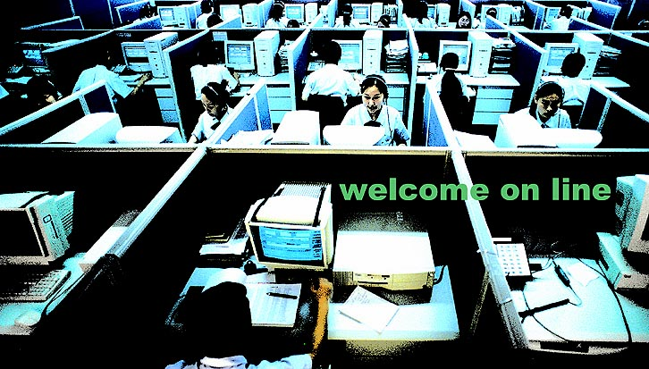 Welcome online > 22 x 39 inch > ©2005
